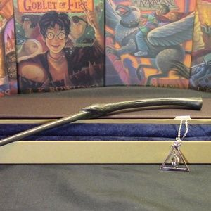 Other - HP Bellatrix Wand w/FREE Deathly Hallow necklace